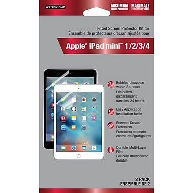WriteRight – Protecteur d'écran pour Apple iPad Mini 1/2/3/4, protection maximale, 2/paq.