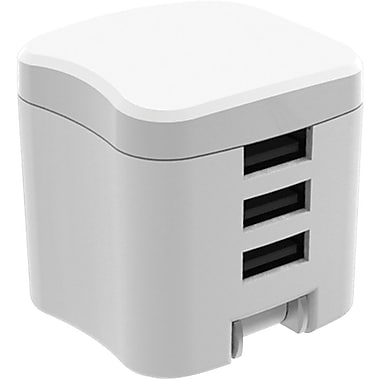 Staples Three Device Rapid Wall Charger, 3.4 Amps, White