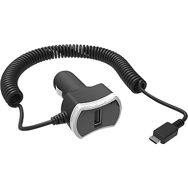 Staples® Dual Device Rapid Car Charger with micro-USB Connector, Black