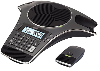 VTech ErisStation® VCS702 Conference Phones with Two Wireless Mics, Black