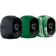 Arlo Skins, Black, Camo, Green Skins, Designed for Arlo Wire-Free Cameras (VMA1200)