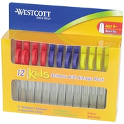 "Westcott® 04252/Kids Value Scissors, Blunt Tip, 5"" Kleencut, Assorted Colors, 12 Pack"