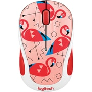 Logitech M325C Wireless Optical Ambidextrous Mouse, Flamingo (910-004678)
