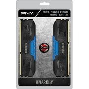 PNY Anarchy 16GB Kit (2x8GB) DDR3 1866MHz (PC3-14900) CL10 Desktop Memory (BLUE)