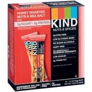 Kind Honey Roasted Nuts & Sea Salt Bar, 1.4 Oz., 12/Ct