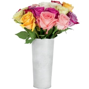 The Bouqs Company Fresh Flower Delivery, 24 or 12 Roses w/ Vase