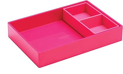 Poppin Double Tray, Pink (101713)
