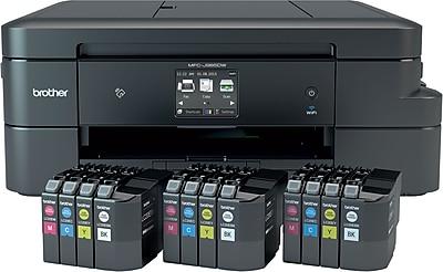 Brother Work Smart™ MFCJ985DWXL Wireless Multifunction Color Inkjet Printer with 12 INKvestment Cartridges