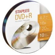 Staples 4.7GB 16X DVD+R Wrap, 10/Pack (29448)