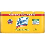 Lysol® Disinfecting Wipes, Lemon & Lime Blossom® Scent, 80 Wipes/Canister, 4/Pack (90641)