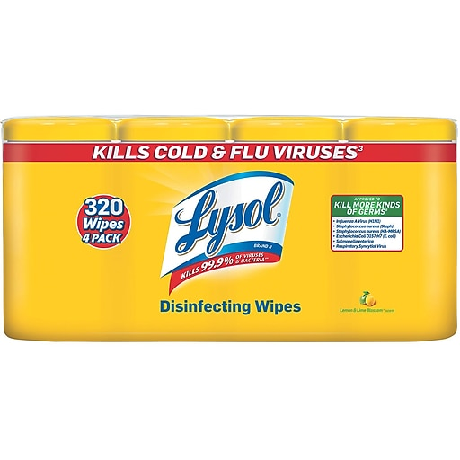 lysol disinfecting wipes lemon and lime blossom scent 80 wipes
