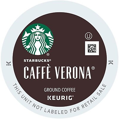 Starbucks® Caffé Verona Coffee, Keurig® K-Cup® Pods, Dark Roast, 96/Carton (10309)