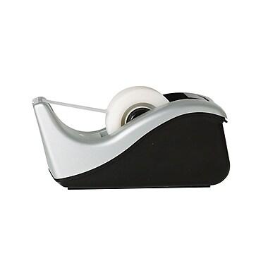 Scotch® Desktop Office Tape Dispenser, Two-Tone Silver/Black, 1