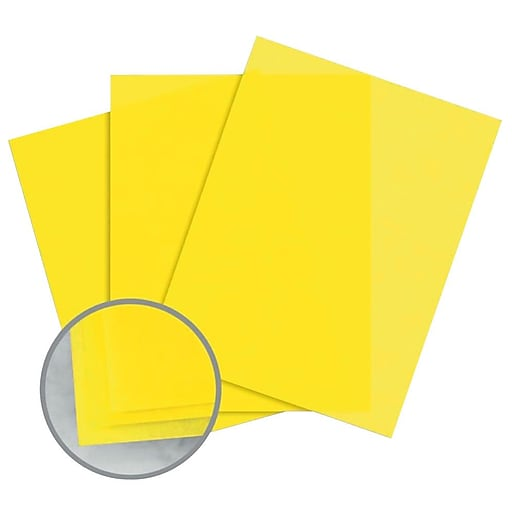 """Glama Natural Colors Paper, 8.5"""" x 11"""", 27#, Yellow Translucent"""