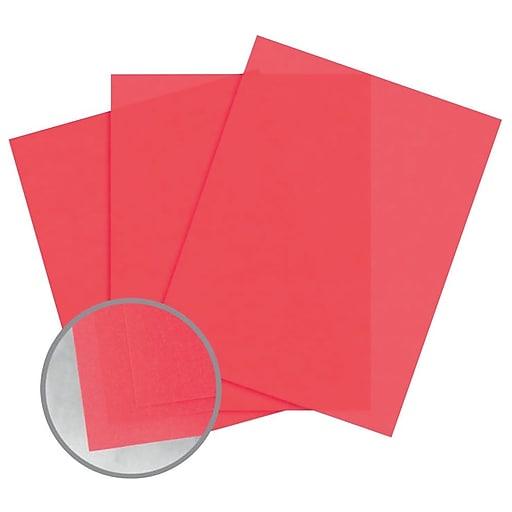 "Glama Natural Colors Paper, 8.5"" x 11"", 27#, Rose Translucent, 2500/Pack"