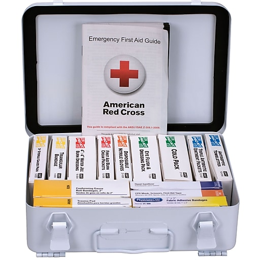 First Aid Only™ ANSI A Weatherproof Steel First Aid Kit for up to 25 People (90568)