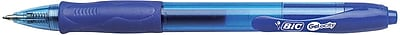 BIC® Gel-ocity® Retractable Gel-Ink Roller Pens, Medium Point, Blue, Dozen