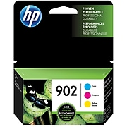 HP 902 Cyan/Magenta/Yellow Standard Yield Ink Cartridge, 3/Pack (T0A38AN#140)