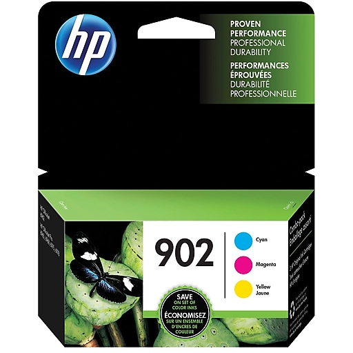 HP 902 C M Y Color Ink Cartridges T0A38AN140 Combo 3 Pack