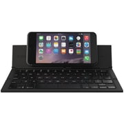 ZAGG Pocket, Foldable Wireless Keyboard for Smartphones & Small Tablets Apple & Android Devices, Black