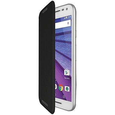 Motorola – Coque rabattable pour le Moto G, 3e génération, charbon