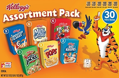 Kellogg's® Cereal Assortment Pack Mini Boxes 30/CS
