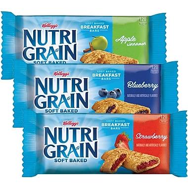 Nutri-Grain Cereal Bars Apple Cinnamon, Blueberry, & Strawberry, 48/Case