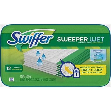 Swiffer® Sweeper® System Wet Premoistened Refill Cloths, 12/Pack