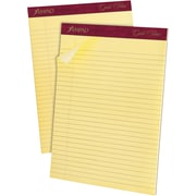 "Ampad® Gold Fibre® Perforated Notepad, 8 1/2"" x 11 3/4"", Wide Ruled, Canary, 50 Sheets/Pad, 12/Pack (20020)"