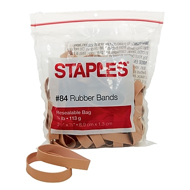 Staples® Economy Rubber Bands, Size #84