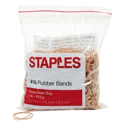 Staples® Economy Rubber Bands, Size #16, 1 lb.