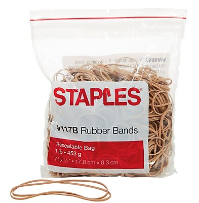 Staples Rubber Bands, Size #117B