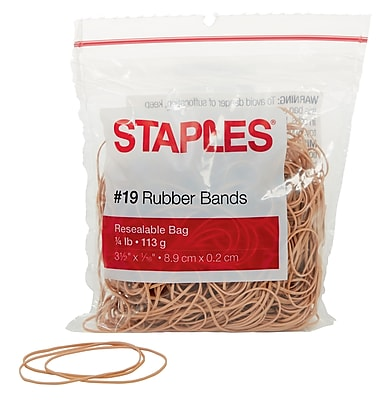 Staples® Economy Rubber Bands Size #19, 1/4 lb.