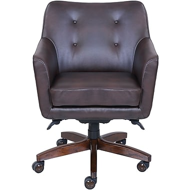 La Z Boy Kelsey Leather Computer And Desk Office Chair, Fixed Arms,