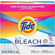 Tide® Plus Bleach HE-Compatible Powder Laundry Detergent, Original Scent, 80 Loads, 144 Oz.