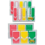 "Post-it® Arrow Prioritization Flags Value Pack, 1"" and 1/2"", Assorted Colors, 320 Flags/Pack (682RYGVA)"