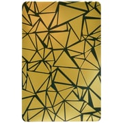 """Post-it® Note Pad, 4"""" x 6"""", Printed Gold and Black Cover, Pink Notes, 1 Pad/Pack (4060-GOLDPAD)"""