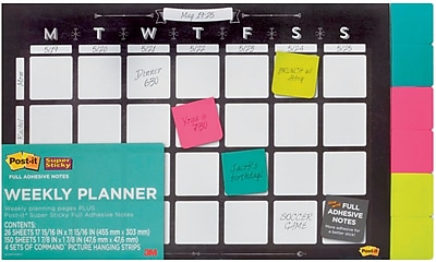 Post-it® Weekly Planner with Super Sticky Notes, 18