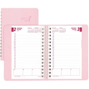 """Brownline® 2017 Pink Ribbon Daily Planner, Soft Cover, 8"""" x 5"""", Pink (CB634W.PNK)"""
