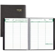 """Brownline® 2017 EcoLogix® Weekly Planner, 11"""" x 8-1/2"""", 100% Recycled Paper, Soft Cover,Black (CB425W.BLK)"""