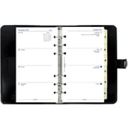 "Filofax® 2017, Personal Size, 7-1/2"" x 5-1/2"", Thick Leather, Patent Black, Jan. 2017- Dec. 2017 (C022436)"