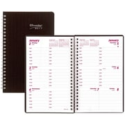 """Brownline® 2017 DuraFlex Weekly Planner, 8"""" x 5"""", Durable Poly Cover,Black (CB75V.BLK)"""