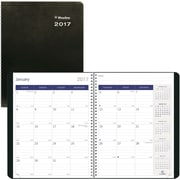 "Blueline® 2017 DuraGlobe™Monthly Planner, 14 Months, 11"" x 8-1/2"", Sugarcane-Based Paper, Soft Cover, Black (C235.21T)"