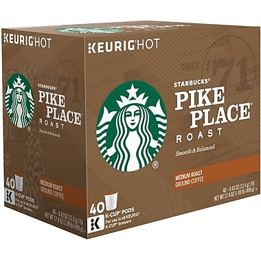 Starbucks K-Cup Pods 40 Count, Assorted Flavors
