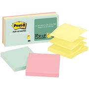 """Post-it® Pop-Up Notes, Marseille Collection, 3"""" x 3"""", 6 Pads/Pack (R330-AP)"""