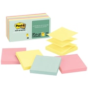"""Post-it® Pop-Up Notes, Marseille Collection, 3"""" x 3"""", 12 Pads/Pack (R33012AP)"""