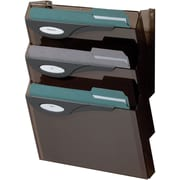 Rubbermaid Classic Hot File Wall File System, Letter Size, Three Pockets, Smoke (L16603)