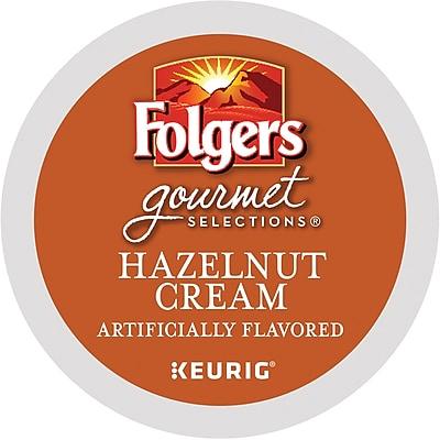 Folgers® Hazelnut Cream Coffee, Keurig® K-Cup® Pods, Medium Roast, 24/Box (20162)