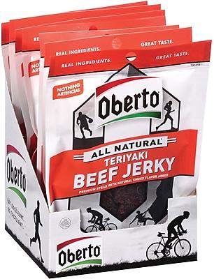 Oberto Natural Style Teriyaki Beef Jerky 1.5 Oz, 8/Ct