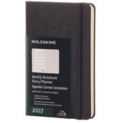 "2017, Moleskine, Pocket 3.5"" x 5.5"", 12M Weekly Notebook, Jan - Dec 2017, Black, Hard Cover (8051272893311)"